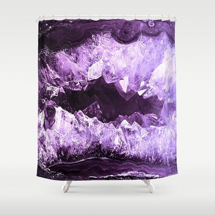 Amethyst Crystal Cave Shower Curtain