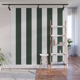 Black leather jacket green - solid color - white vertical lines pattern Wall Mural