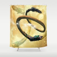 dragon Shower Curtains featuring Dragon by nicky2342