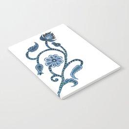 Blue Paisley Heart Notebook