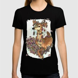 Deer in Flowers T-shirt