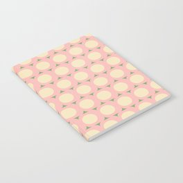 Dots and Triangles Pink  #midcenturymodern Notebook