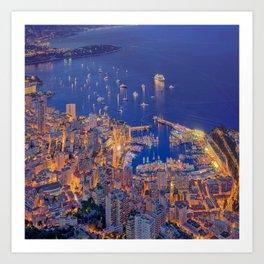 Monaco Sparkles Art Print