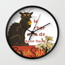 Le Chat Noir De Saint David De Rodolphe Salis Wall Clock