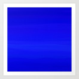 Solid Cobalt Blue - Brush Texture Art Print