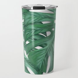 Monstera Tropical Leaf Painting Travel Mug