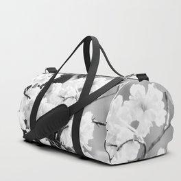 Cherry Tree Flowers in Black and White #decor #society6 #buyart Duffle Bag