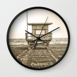 Beach Ocean Life Guard Wall Clock