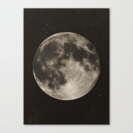 The Moon  [Sans Type] Canvas Print