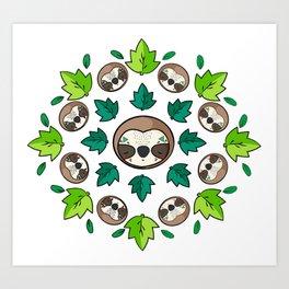 Mandala Sloth Art Print