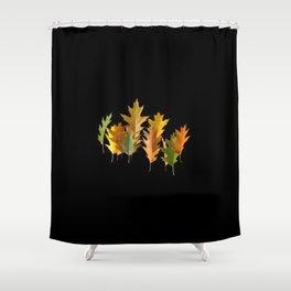 Variety coloured autumn oak leaves Shower Curtain