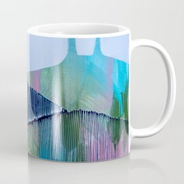 Day 13 In The Woods, Contemporary Abstract Landscape Coffee Mug