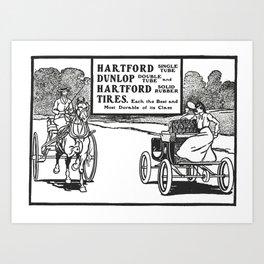 Hartford Dunlop Tires  Art Print