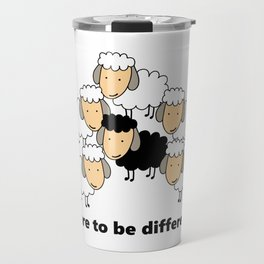 Dare To Be Different Black Sheep Travel Mug