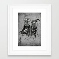 Danse Macabre (variation) Framed Art Print