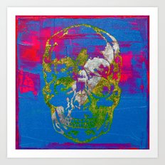 the 4i skull - mixed media on canvas Art Print