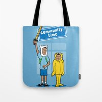 community Tote Bags featuring Community Time! by powerpig