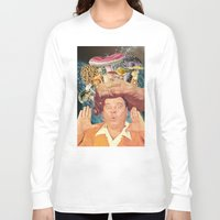 mushrooms Long Sleeve T-shirts featuring mushrooms by •ntpl•