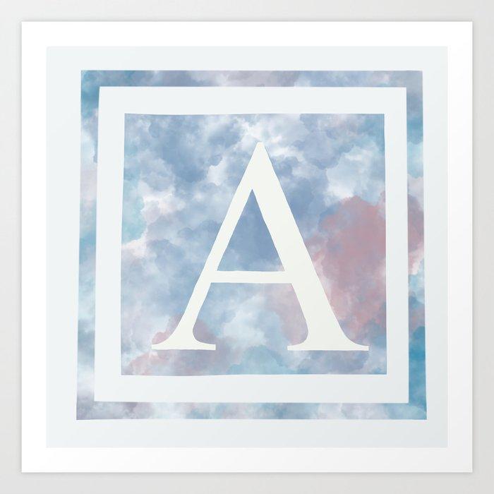 Letter Art Print.A Pastel Cloud Letter Art Print By Daisymg