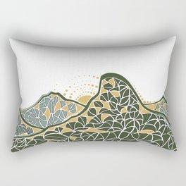 Geometric Mountain Rectangular Pillow