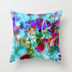 Secret Garden II - Floral Abstract Art Throw Pillow