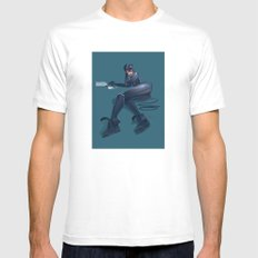 CATWOMAN White MEDIUM Mens Fitted Tee