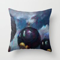 mario kart Throw Pillows featuring Mario by Ronan Lynam