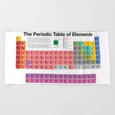 The Periodic Table of Elements Beach Towel
