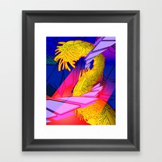 AUTOMATIC WORM 7 Framed Art Print