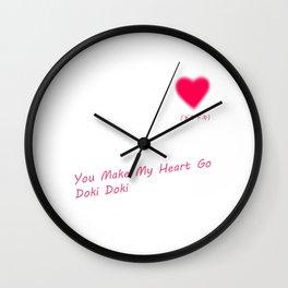 You Make My Heart Go Doki Doki Wall Clock