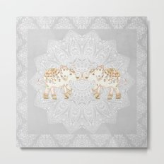 ALHAMBRA ELEPHANT GREY by Monika Strigel Metal Print