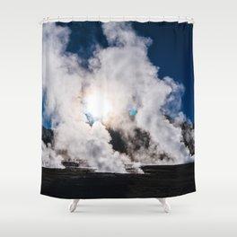 Tatio Geysers in the Atacama Desert, Chile Shower Curtain