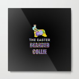 Bearded Collie gifts   Easter gifts   Easter decorations   Easter Bunny   Spring decor Metal Print