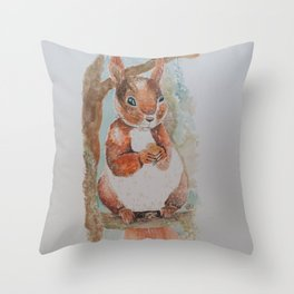 Squirrel Skipper Throw Pillow