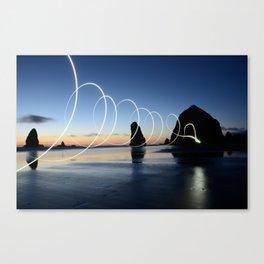 Ocean light rays Canvas Print