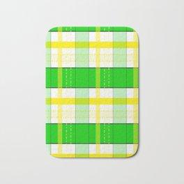 Yellow and Green Plaid Bath Mat