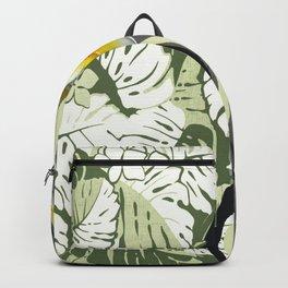 Contemporary Hawaiian Tapa with Plumeria Backpack