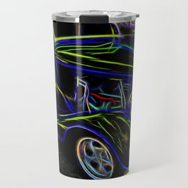 1930s Ford Coupe Neon Abstract Travel Mug