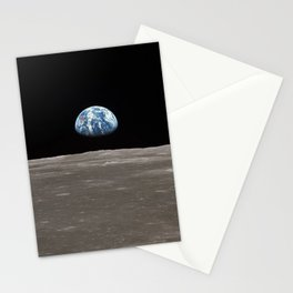 Earthrise Over Moon Apollo 11 Mission Stationery Cards