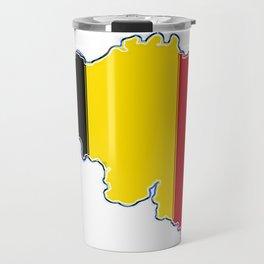 Belgium Map with Belgian Flag Travel Mug