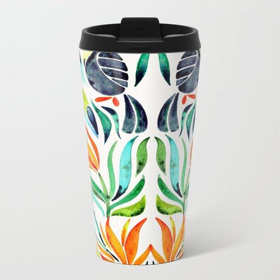 Tropical Toucans Metal Travel Mug