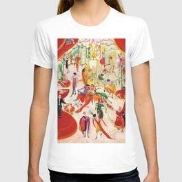 'Spring Sale Soireé at Bendels' Jazz Age New York City Portrait by Florine Stettheimer T-shirt