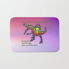 Rainbow Spinosaurus is for equal rights Bath Mat