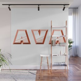 """""""AVA"""" first name red pattern Wall Mural"""