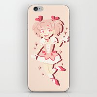 magical girl iPhone & iPod Skins featuring Become A Magical Girl!  by Minty Art