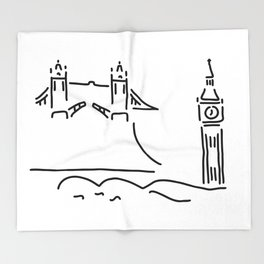 London tower bridge big ben Throw Blanket