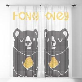 Honey Lover Sheer Curtain