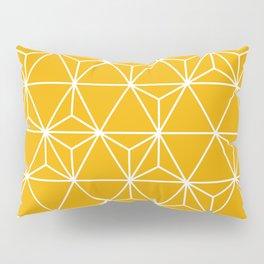 Geo-Triangle Goldenrod Pillow Sham