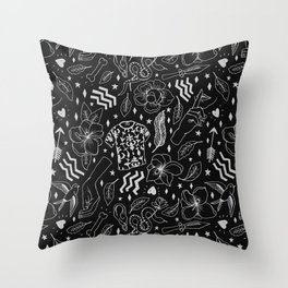 Give every man thy ear but few thy voice B/W Throw Pillow