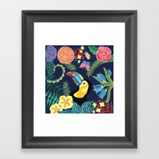 Natures Confetti Toucan Framed Art Print